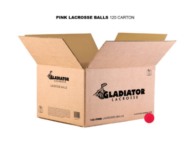 Gladiator Lacrosse® Case of 120 Official Lacrosse Game Balls – Pink – Meets NOCSAE Standards, SEI Certified